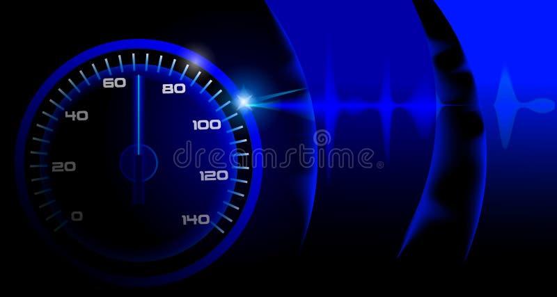 与车速表的现代背景 皇族释放例证