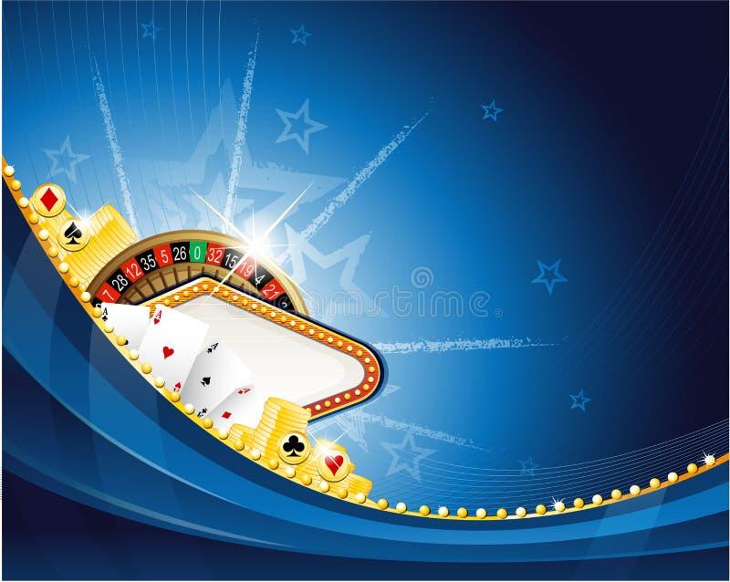 与轮盘赌的娱乐场背景 库存例证