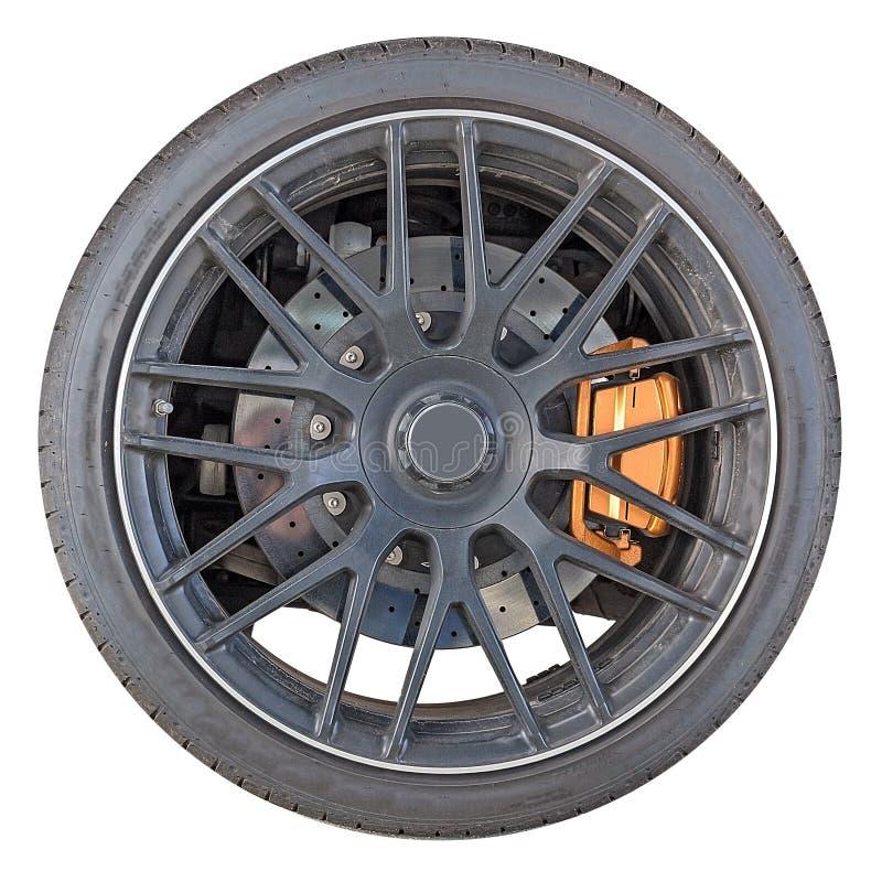 与轮胎的轮子外缘 免版税库存照片