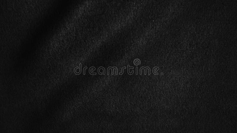 与软的波浪的黑布料背景摘要 皇族释放例证