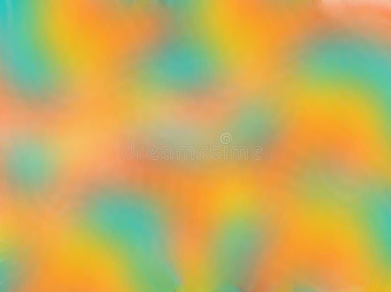 与软的淡色的抽象梯度迷离背景定调子,绿化,蓝色,桔子,黄色,桃红色 免版税库存图片
