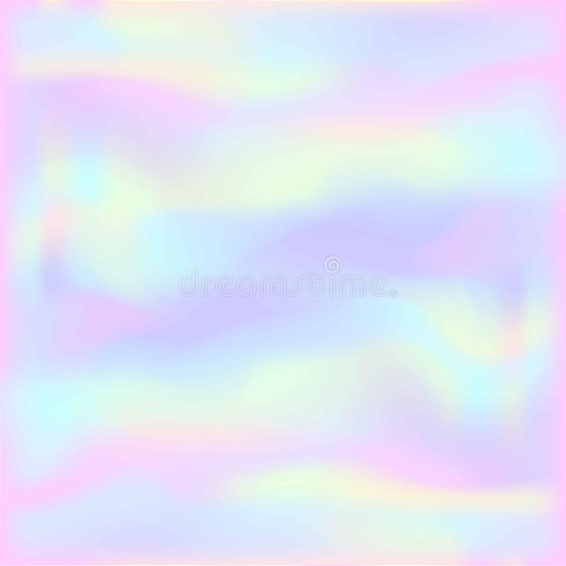 与轻的淡色彩虹滤网的不可思议的神仙和独角兽背景 在娘儿们桃红色、紫罗兰和蓝色的多色背景 Fant 库存例证