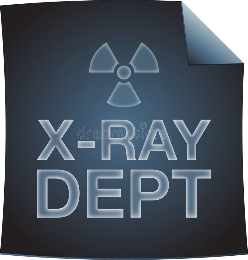 与辐射标志的X-射线dept图纸 免版税库存照片