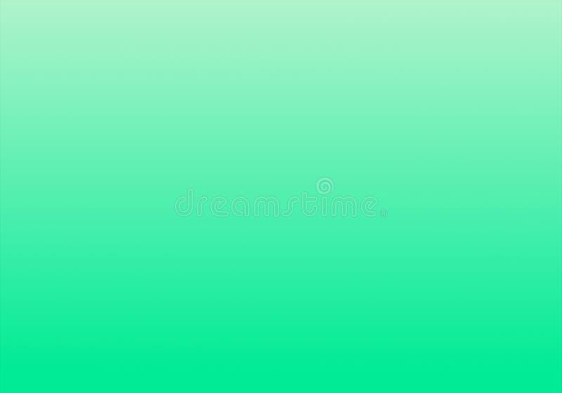 与辐形梯度作用的简单的绿色&白色抽象背景 库存例证