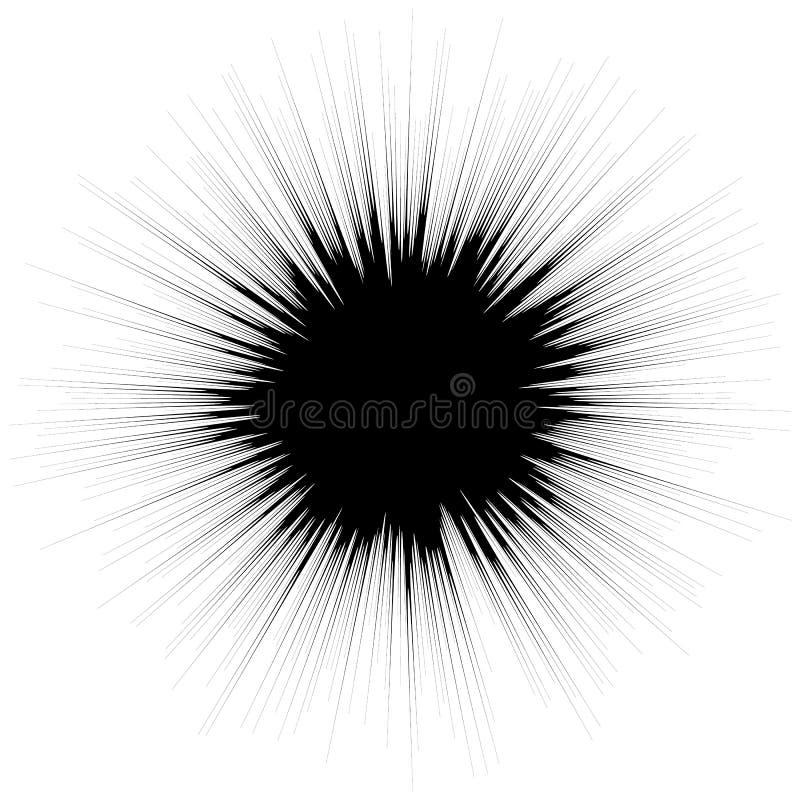 与辐形的抽象例证,放热任意线 Irreg 库存例证