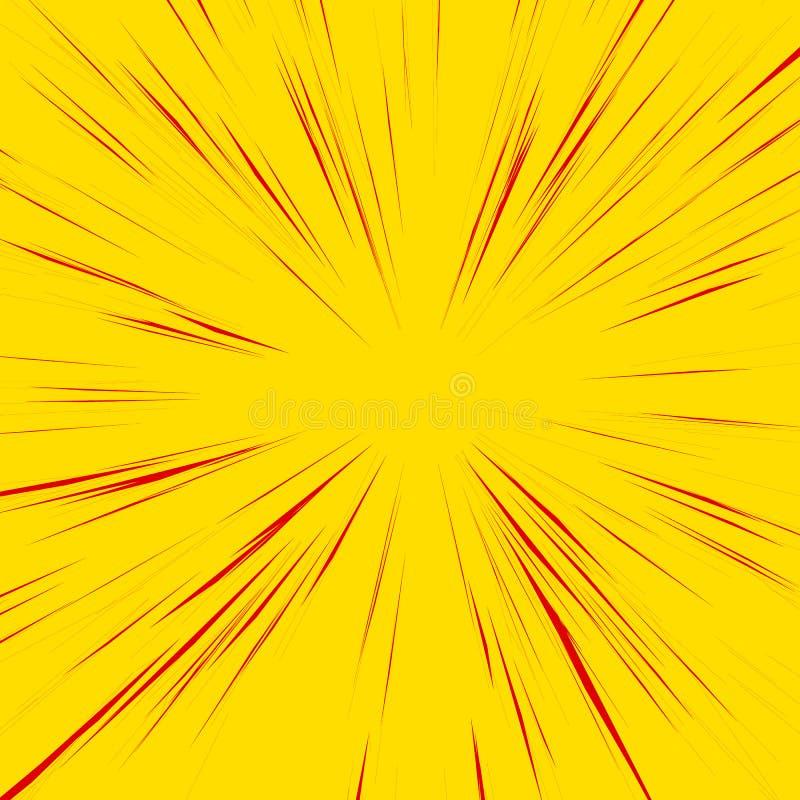 与辐形的抽象背景,放热,聚合的线 皇族释放例证