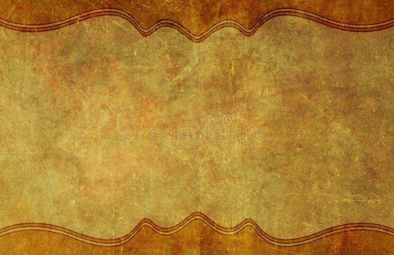 与边界的老,被佩带的纸难看的东西背景 皇族释放例证