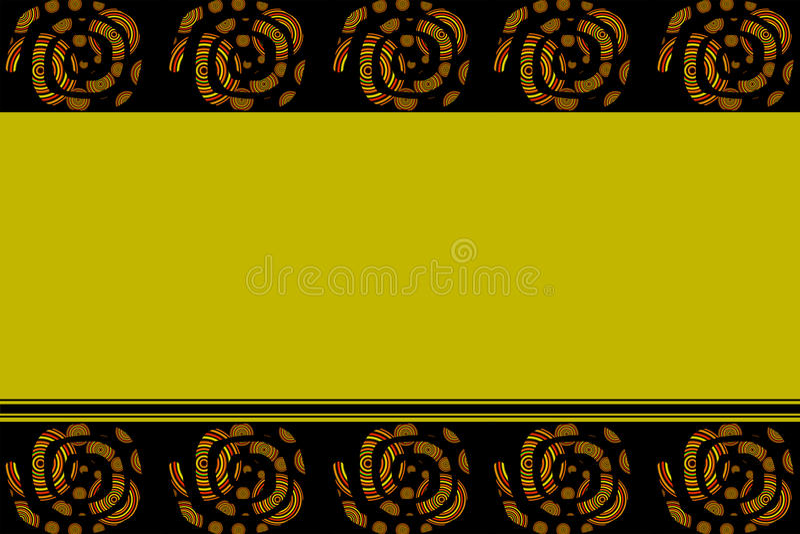 与边界的黄色背景 向量例证