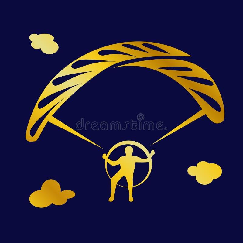 与运动员跳伞运动员的简单的例证 皇族释放例证