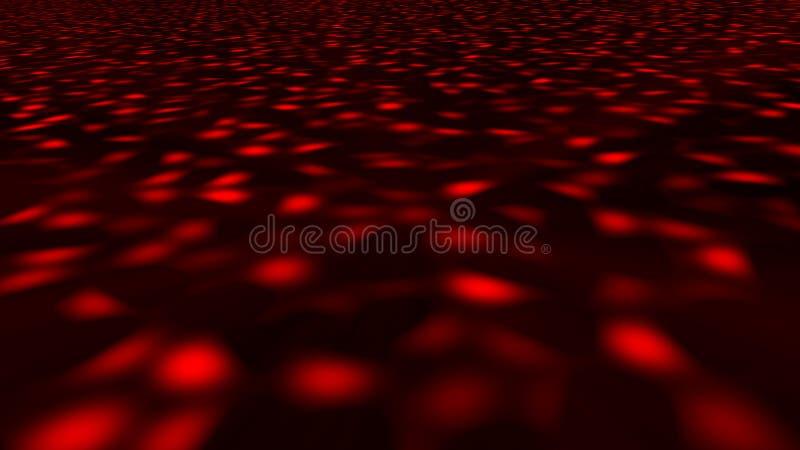 与迪斯科地板的抽象背景 3d翻译 库存例证