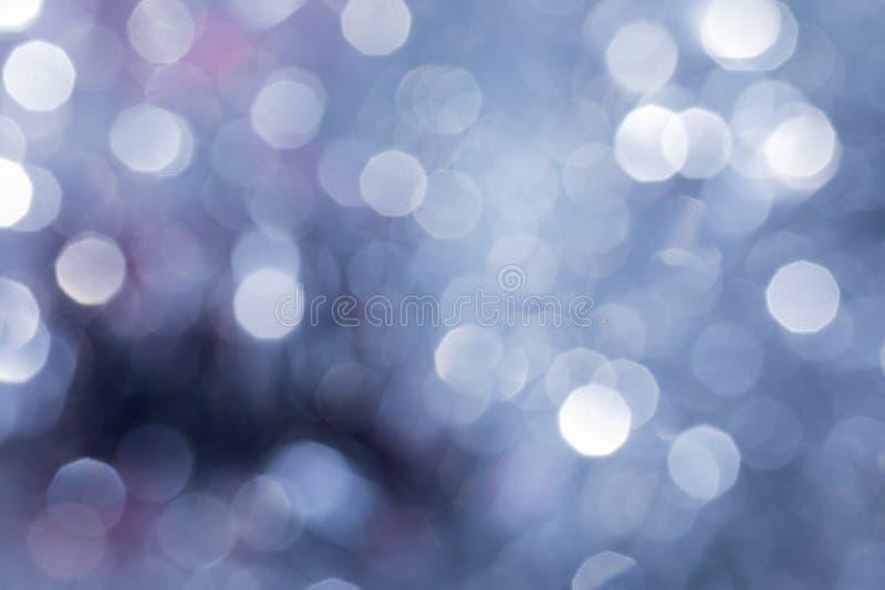 与迷离光的圣诞节背景 免版税库存图片