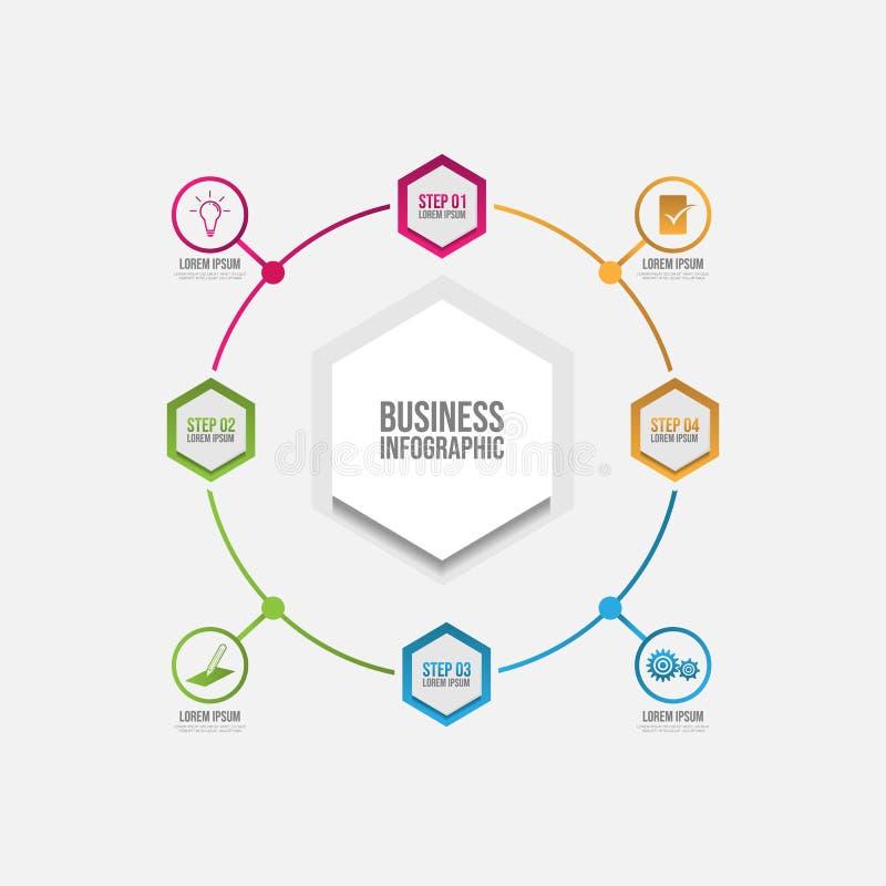 与选择或步的介绍企业infographic模板 皇族释放例证