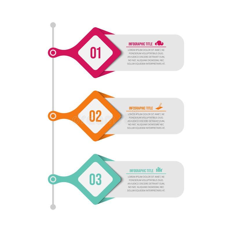与选择或步的介绍企业infographic模板 向量例证