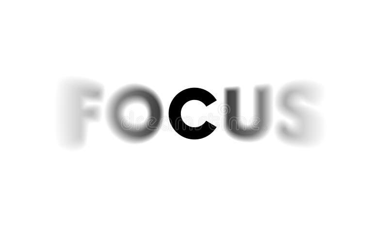 与选择聚焦的词焦点 库存例证
