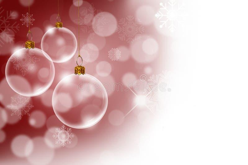 与透明圣诞节的圣诞节背景 免版税库存照片