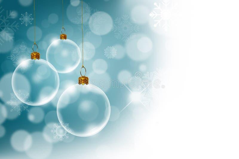 与透明的圣诞节背景 免版税库存照片