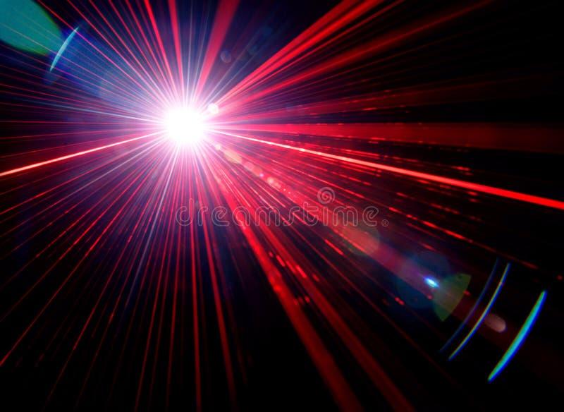 与透镜火光的光线影响 皇族释放例证
