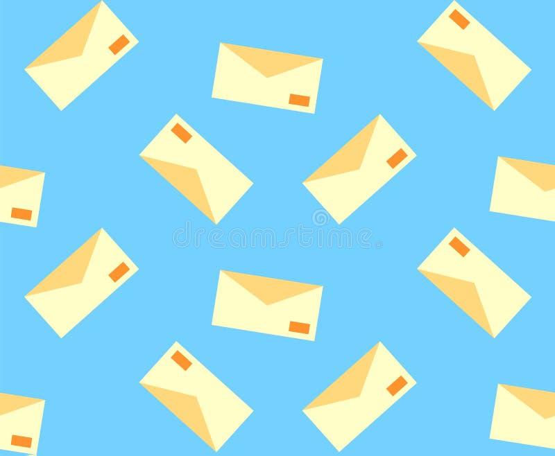 与邮件信件的样式从纸 向量例证