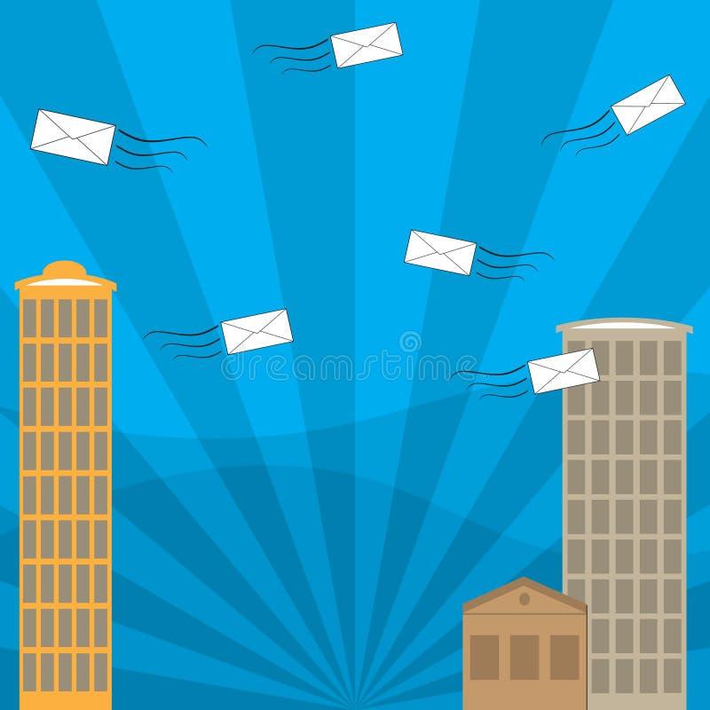 与邮政信封的通信 免版税库存照片