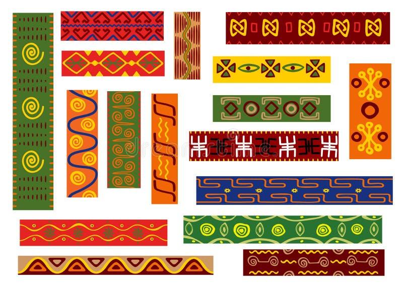 与部族几何主题的非洲种族样式 库存例证