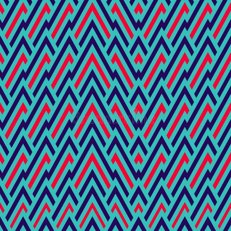 与部族时尚的无缝的样式 抽象背景 库存例证