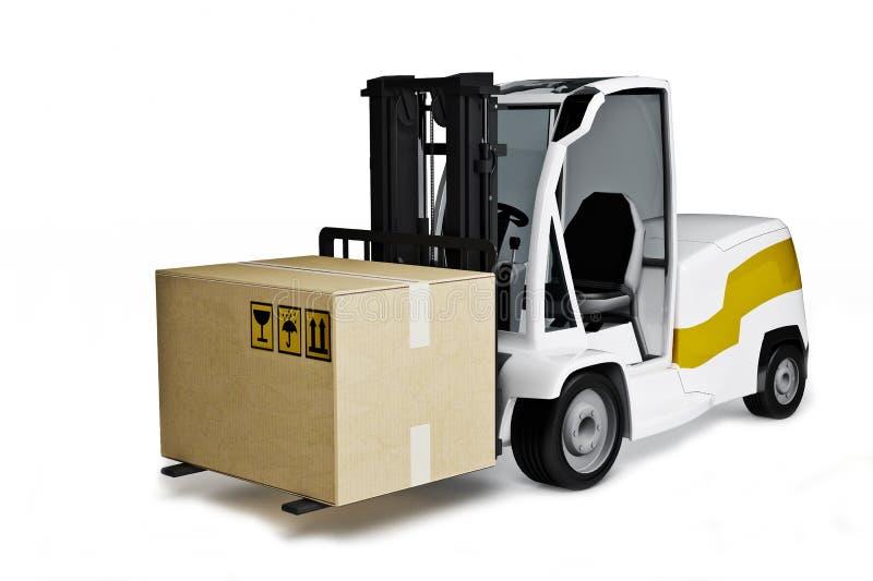 与配件箱的Avto装入程序 向量例证