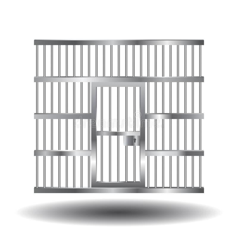 与酒吧的监狱门 库存例证