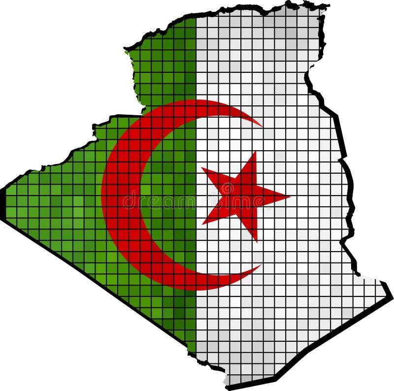与里面旗子的阿尔及利亚地图 皇族释放例证