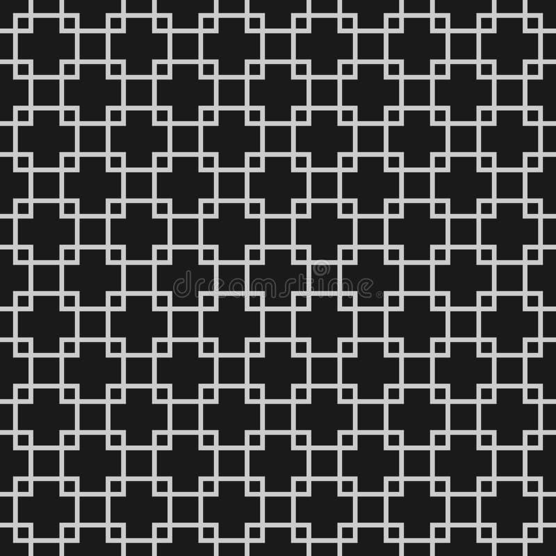 与重叠的正方形的抽象无缝的样式 向量例证