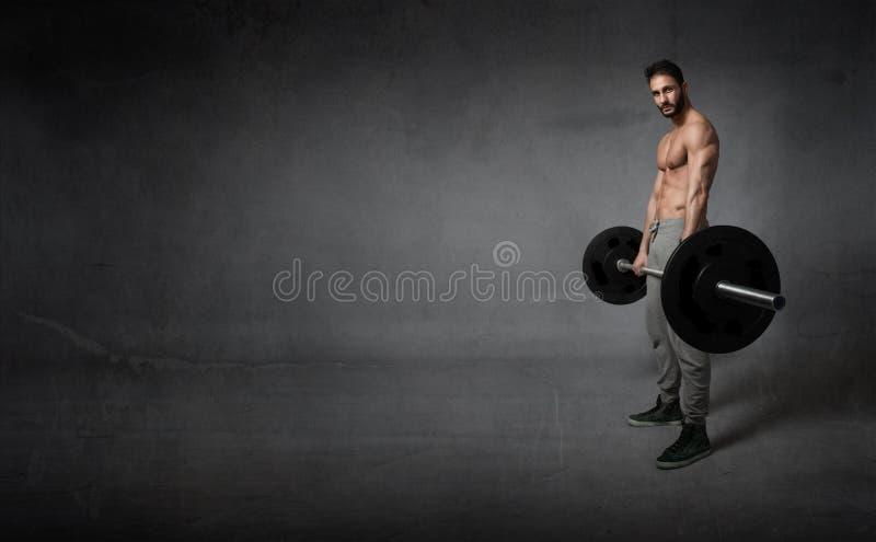 与重量的Crossfit锻炼 免版税库存照片