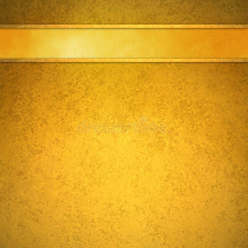 与金丝带和修剪倒栽跳水的金背景 库存图片