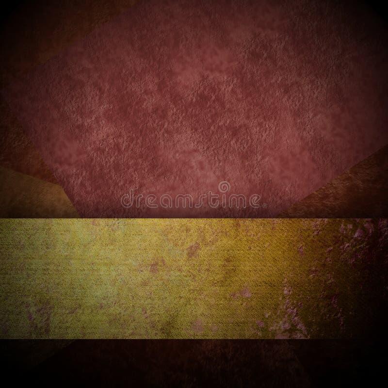 与金丝带拷贝空间的黑褐色背景 库存图片