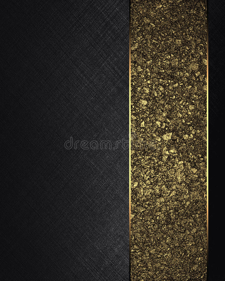 与金丝带的黑纹理 设计的要素 设计的模板 复制广告小册子或公告邀请的, ab空间 向量例证