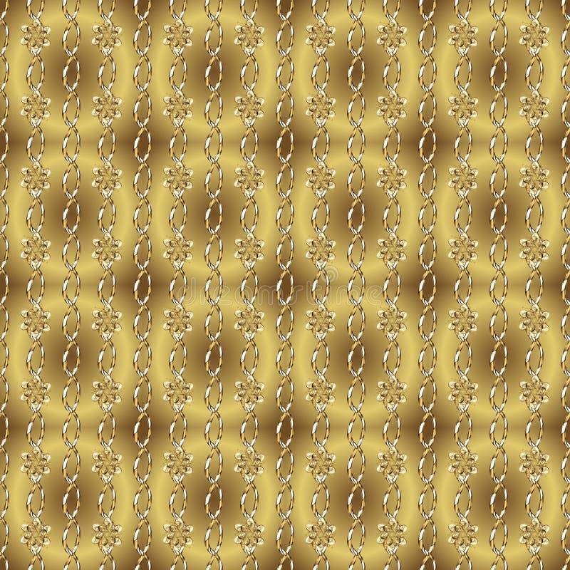 与金元素的中立和黄色颜色 库存例证