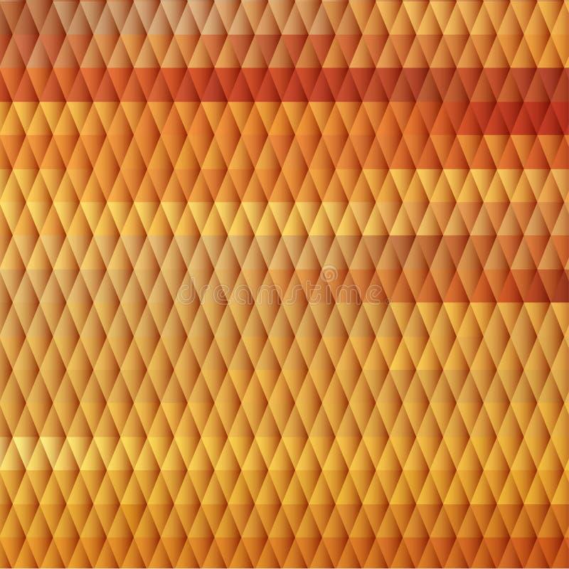 与金刚石栅格的日落主题的背景 库存例证