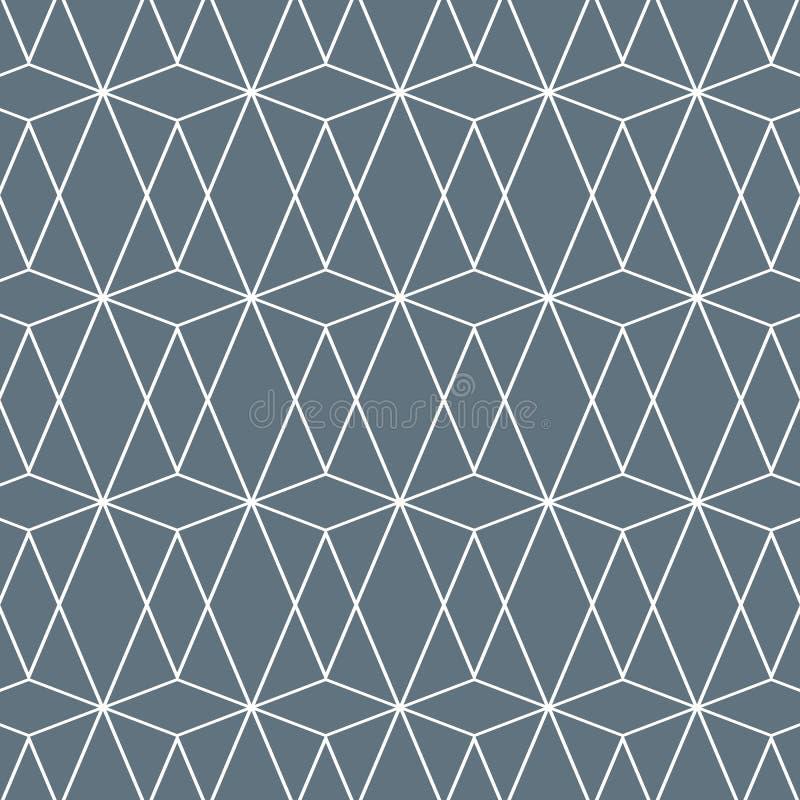 与金刚石,三角的几何样式 多角形背景 与重复的几何图的图象 种族主题 库存例证