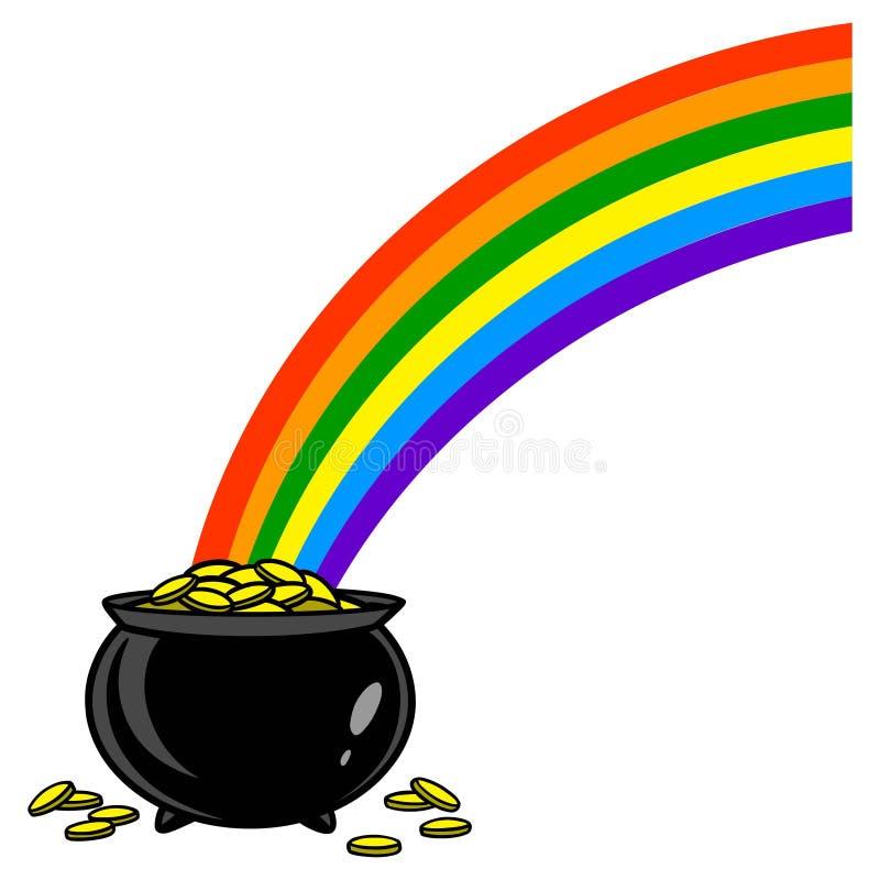 与金壶的彩虹 皇族释放例证