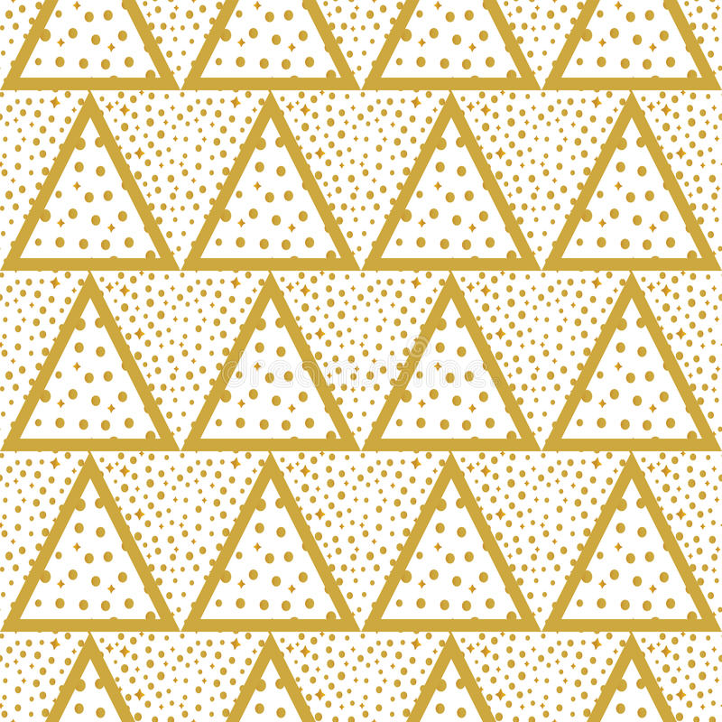 Download 与金子的三角背景加点无缝 向量例证. 插画 包括有 纸张, 小点, 现代, 颜色, 混乱, 背包, 重复 - 62539216