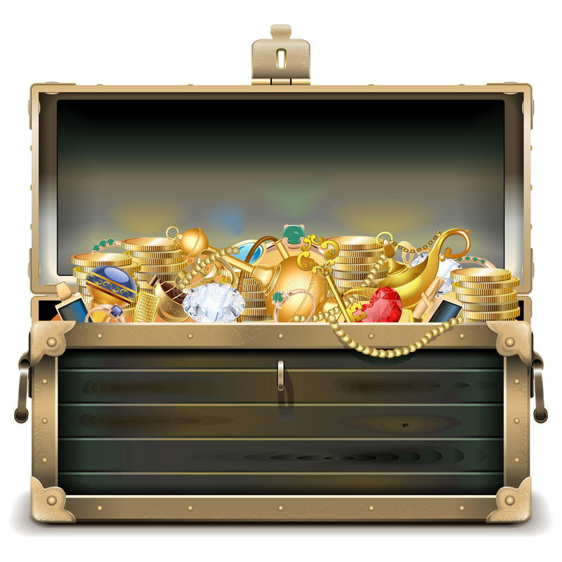 Download 与金子的传染媒介老木胸口 向量例证. 插画 包括有 重点, 富有, 金刚石, 例证, 珍珠, 关键字, 神仙 - 62533823