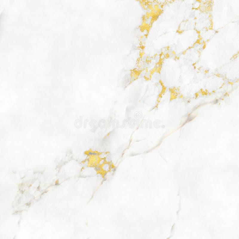 与金子聚焦的大理石纹理背景 库存例证