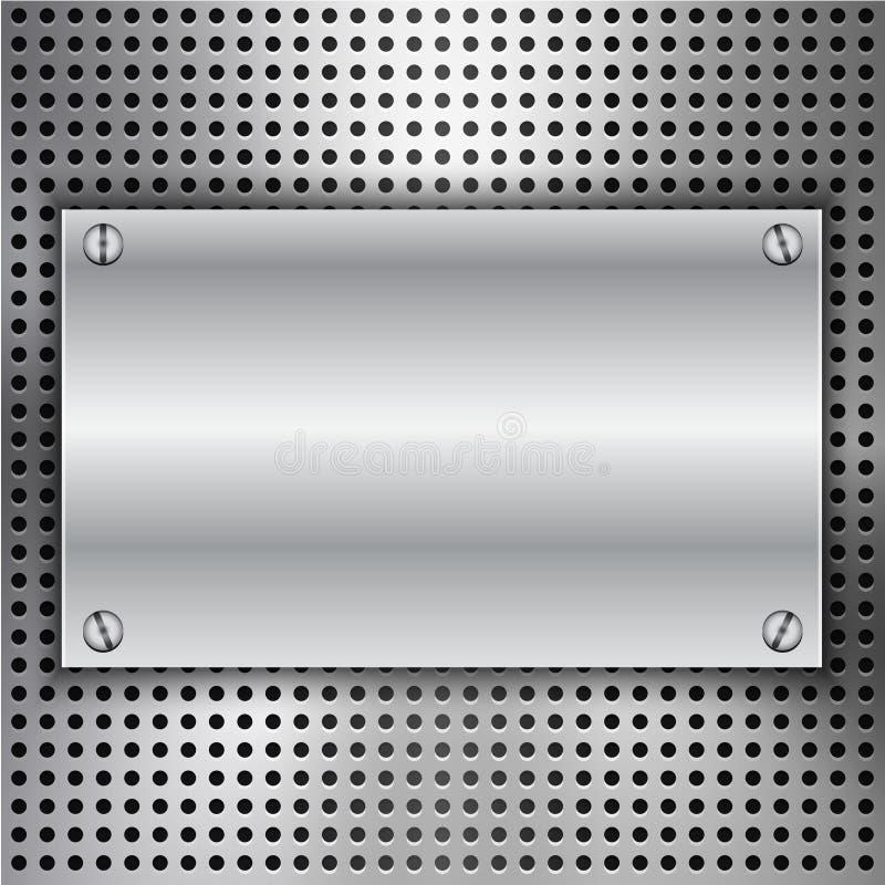与金属插页的抽象背景 向量例证