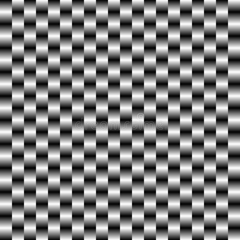 与金属黑白梯度的抽象被摆正的背景 免版税库存图片
