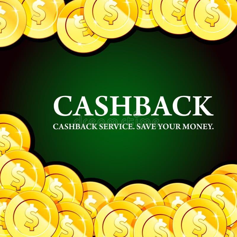 与金币、现金-赌博娱乐场,时运和困境,金钱背景的海报 向量例证