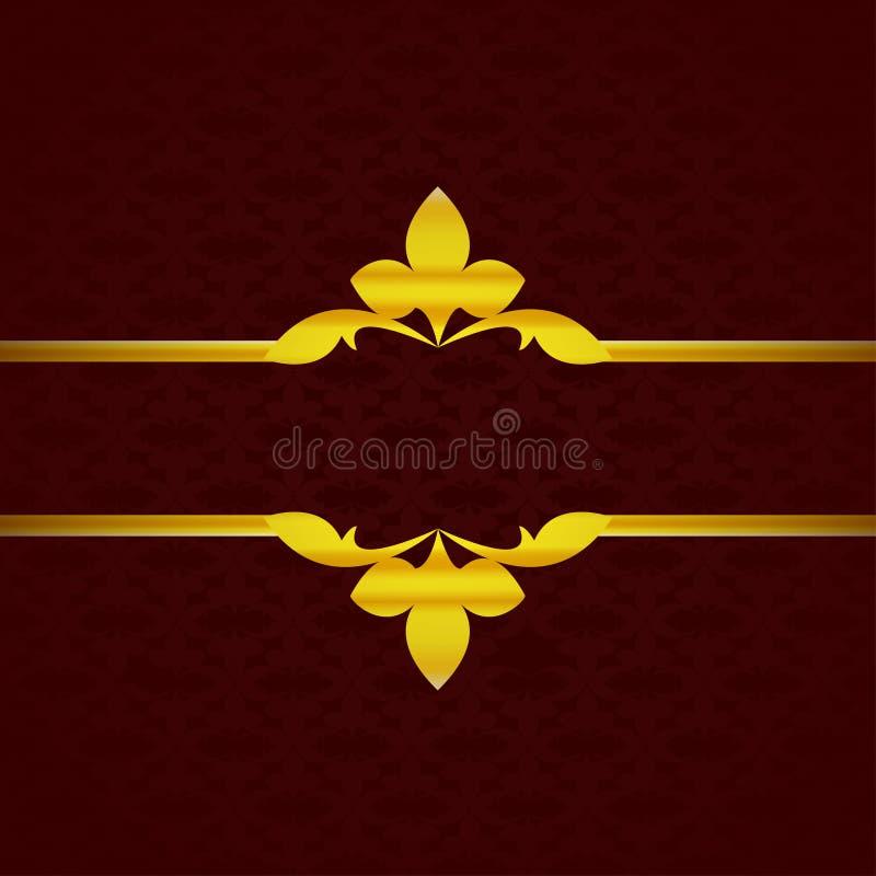 与金装饰品的深红豪华背景从瓣葡萄酒 免版税库存照片