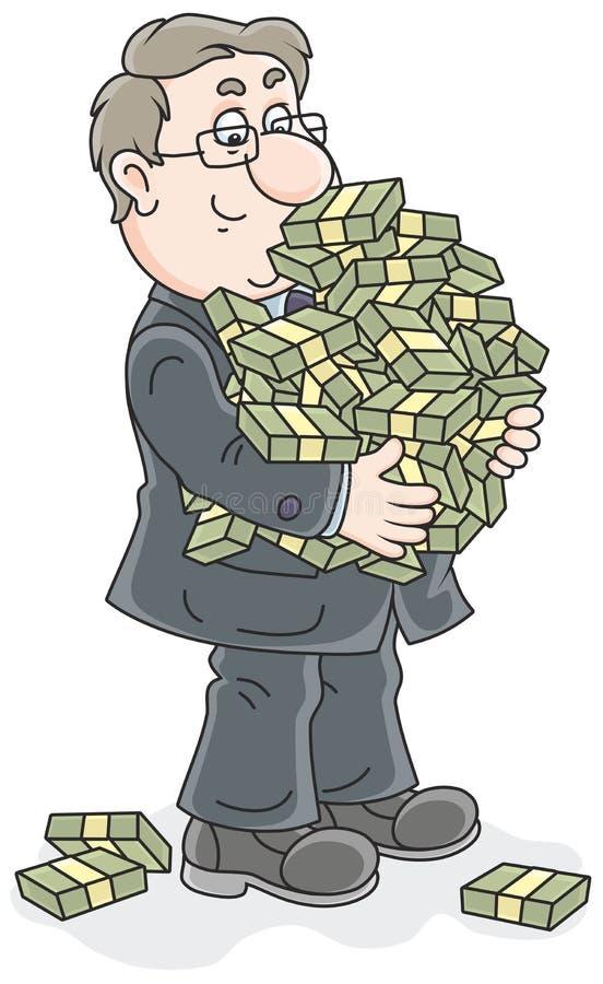 与金钱的商人 库存例证