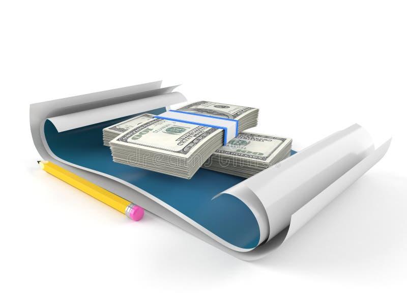 与金钱的图纸 库存例证