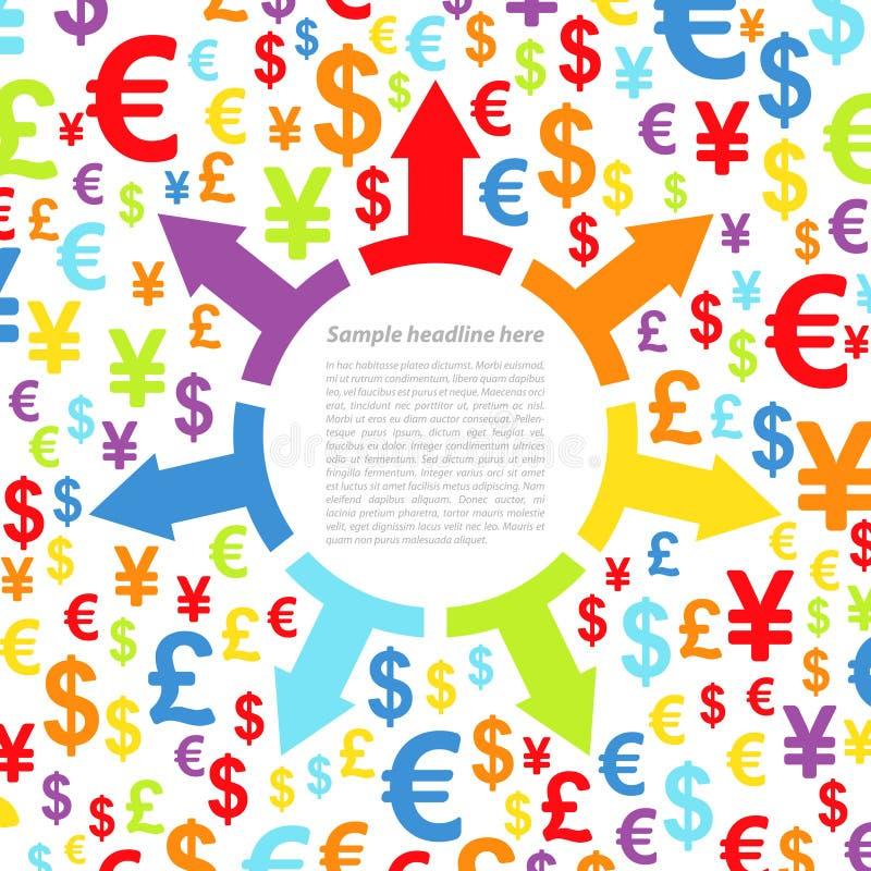 与金钱的抽象背景 向量例证