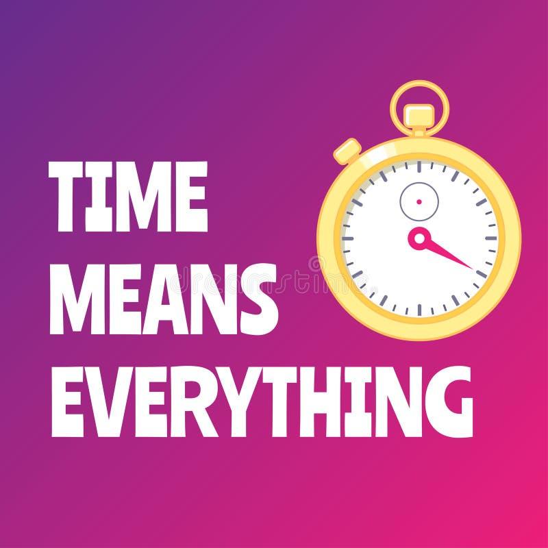 与金黄秒表的刺激海报 是更加快速的 向量例证