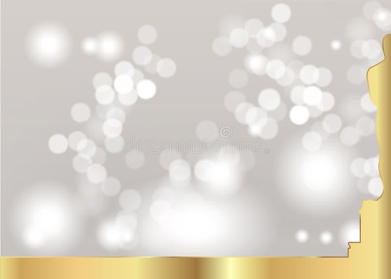与金黄雕象剪影的被弄脏的白色背景 在平的样式的学院奖象 金剪影雕象象 影片 向量例证