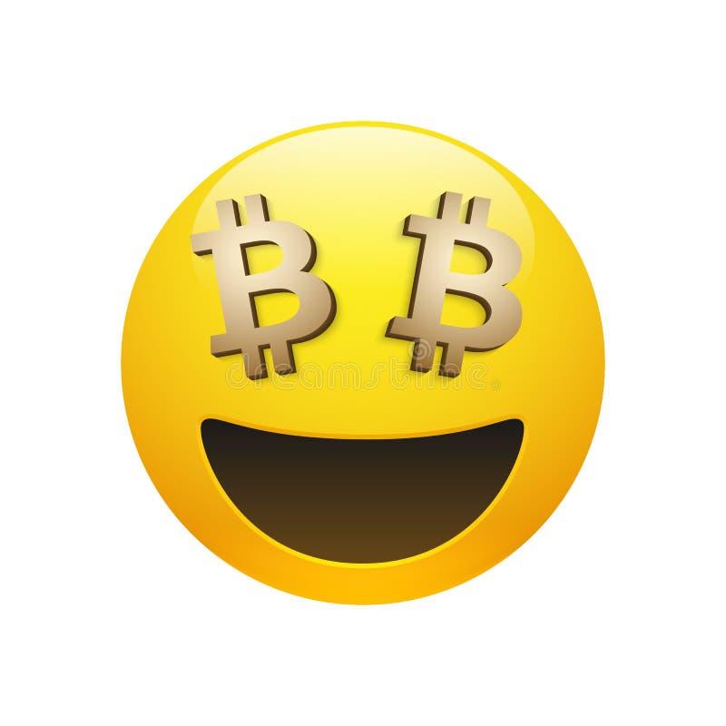 与金黄bitcoin标志眼睛的传染媒介意思号 皇族释放例证